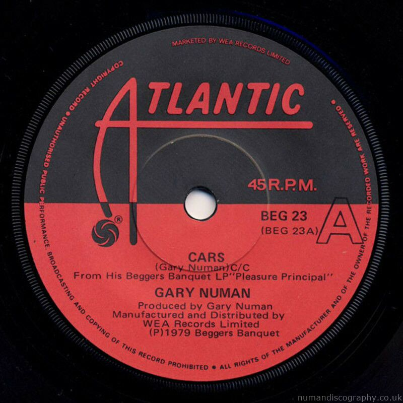 Gary Numan Cars 1979 New Zealand