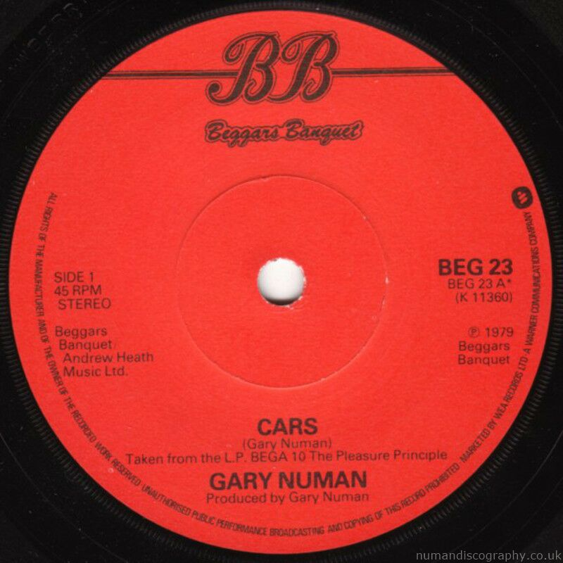 Gary Numan Cars 1979 UK