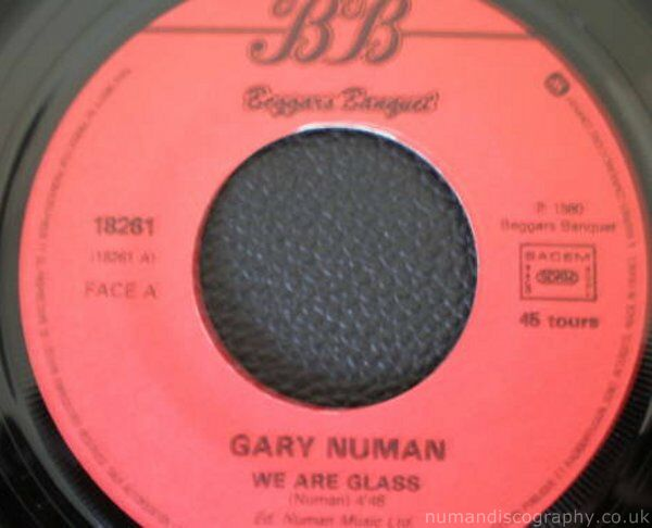 Gary Numan We Are Glass 1980 France
