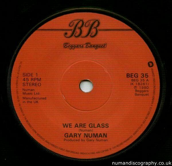 Gary Numan We Are Glass 1980 UK