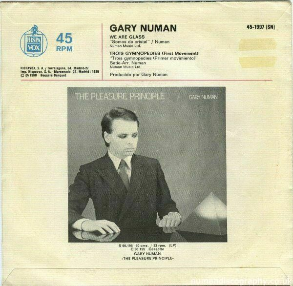 Gary Numan We Are Glass 1980 Italy