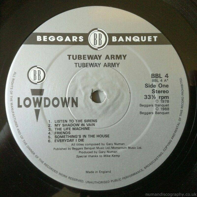 Gary Numan Albums   Tubeway Army Reissue 1988