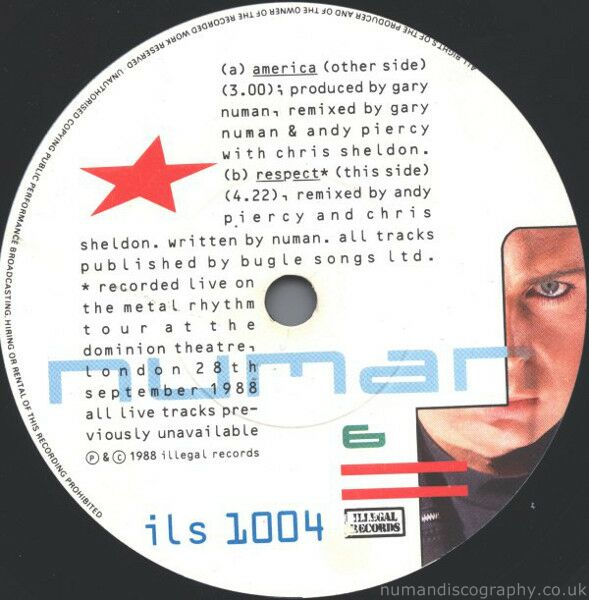 Gary numan songs america 1988 for Songs from 1988 uk