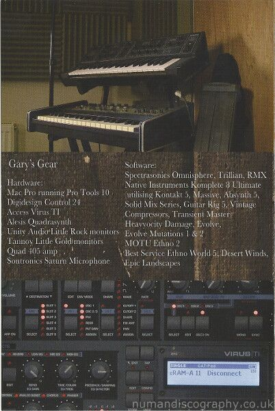 Gary Numan DVD | The Making Of Splinter 2013