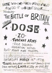 Uxbridge Punk Flyer 1978