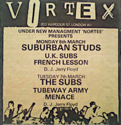 Vortex Newspaper Advery 1978