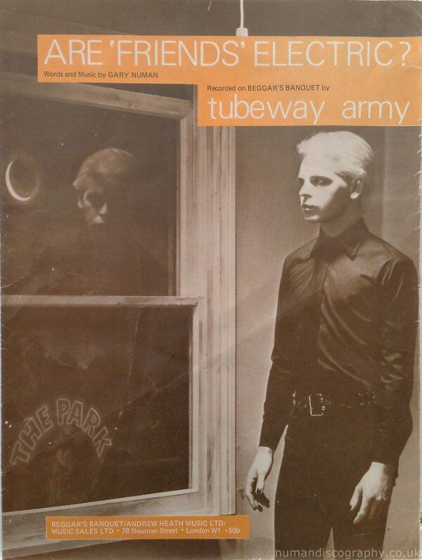 gary numan sheet music