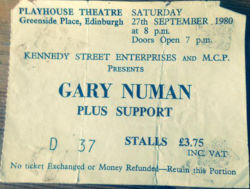Edinburgh Ticket 1980