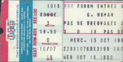 Montreal Ticket 1980