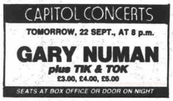 Gary Numan 1983 Aberdeen Evening Express