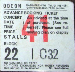 London Ticket 1985