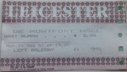 Leicester Ticket 1987