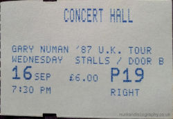 Nottingham Ticket 1987