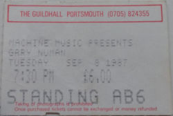 Portsmouth Ticket 1987