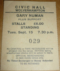 Wolverhampton Ticket 1987