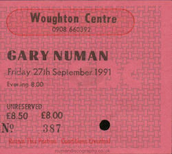 Milton Keynes Ticket 1991