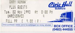 Guildford Ticket 1993