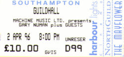 Southampton Ticket 1996