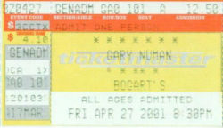 Cincinnati Ticket 2001
