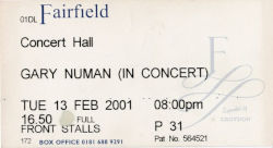 Croydon Ticket 2001
