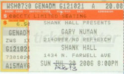 Milwaukee Ticket 2006