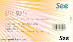 Southampton Ticket 2009
