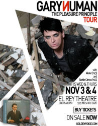 Gary Numan 2010 Venue Poster Hollywood