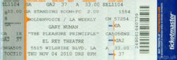 Los Angeles Ticket 2010