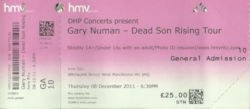 Glasgow Ticket 2011