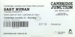Cambridge Ticket 2014