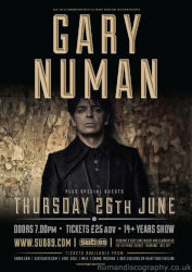Gary Numan Splinter Tour Poster Reading