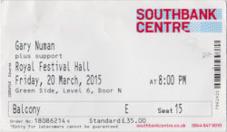 London RFH Ticket 2015