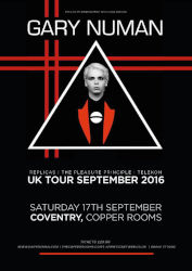 Gary Numan Venue Poster 2016 Coventry