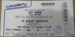 Gary Numan Newcastle Ticket 2017