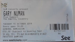 Gary Numan Coventry Ticket 2019